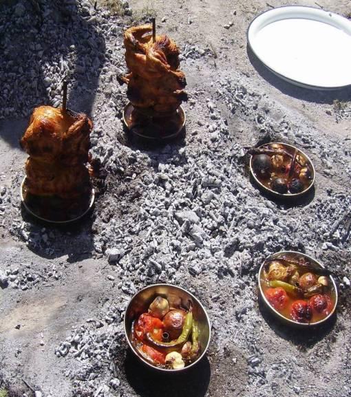 Dica de churrasco - frango fogo de chão